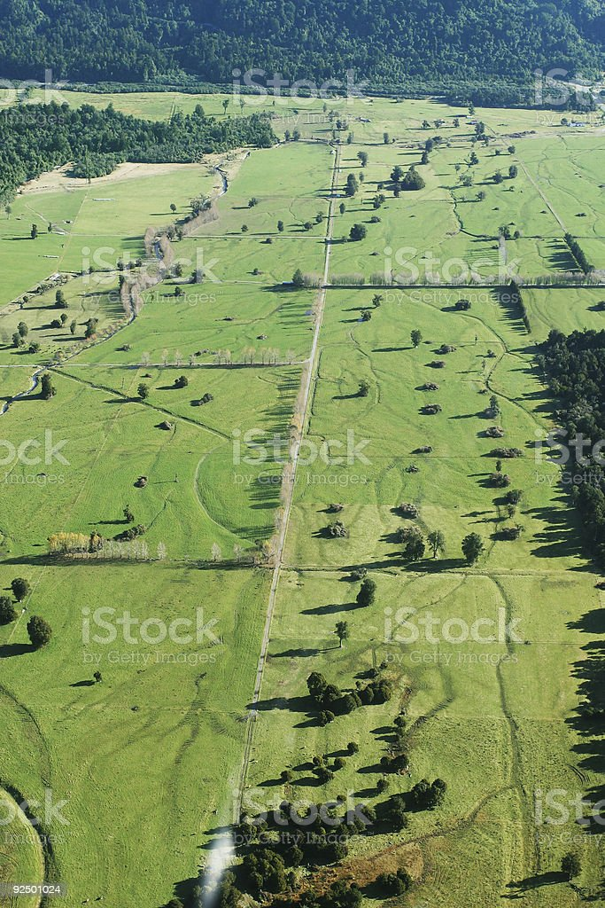 Aerial view of farmland royalty-free stock photo