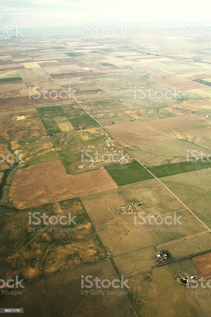 Aerial view of farmland royalty-free stock photo