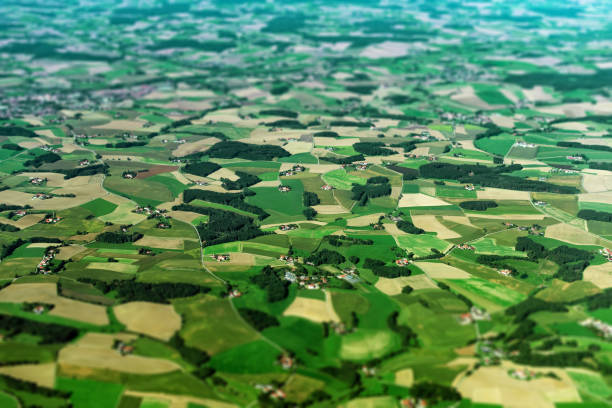 Aerial view of farmlands in Germany. Aerial view of farmlands in Germany. university of missouri columbia stock pictures, royalty-free photos & images