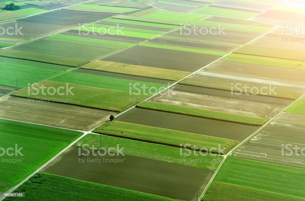 Aerial view of farmlands in Germany. – Foto