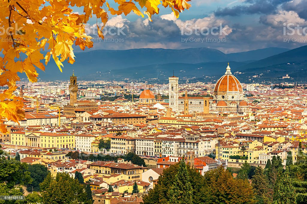 Aerial view of Florence stock photo