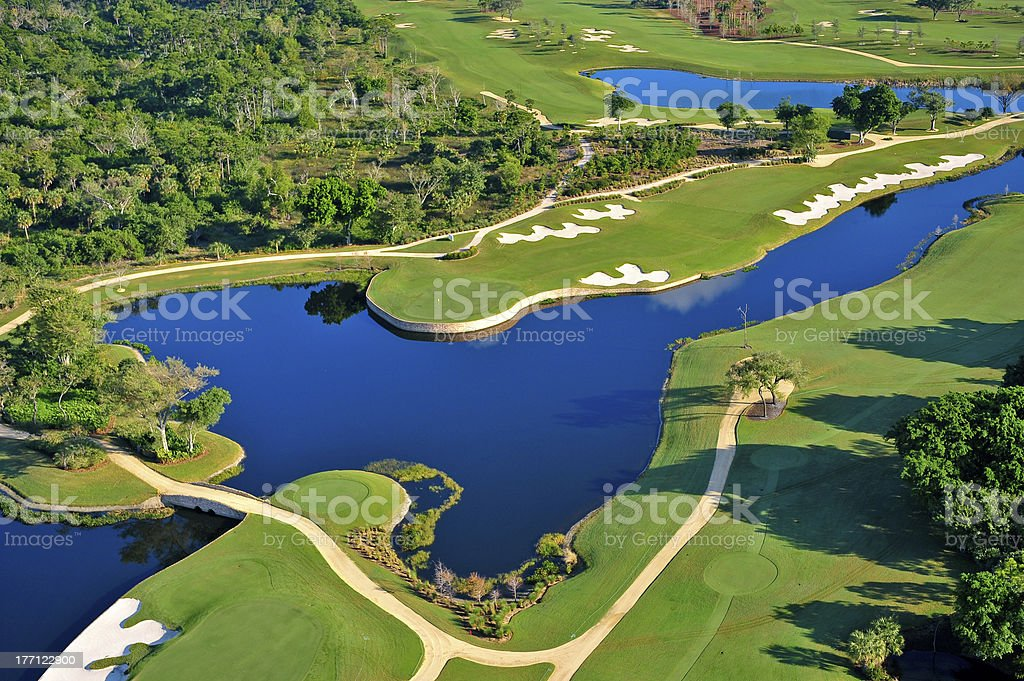 aerial view of florida golf course royalty-free stock photo