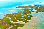 Florida Keys Aerial View (shot from aeroplane)