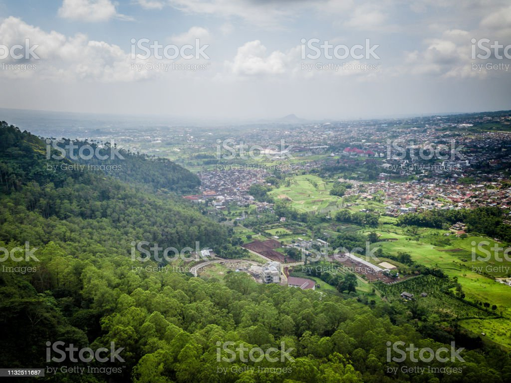 Aerial View Of Forest Nature At Batu Malang City In East Java Indonesia One Of The Best Destination In East Java Stock Photo Download Image Now Istock