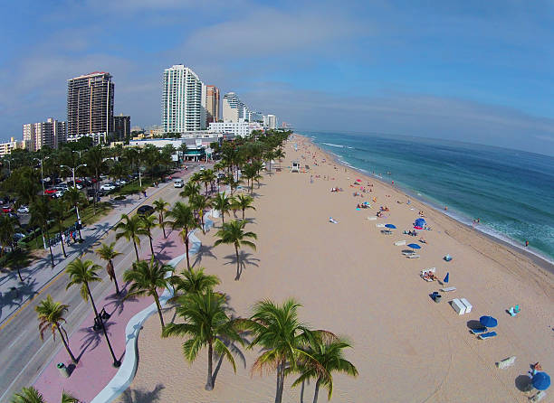 Aerial view of Fort Lauderdale Beach stock photo