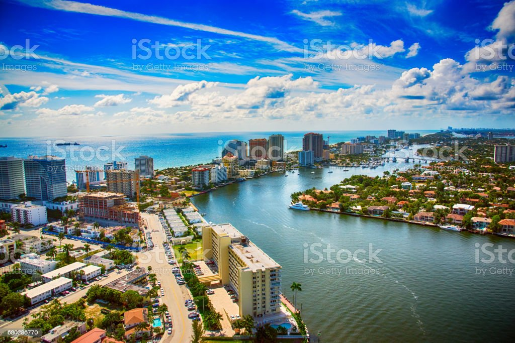 Aerial View of Fort Lauderdale stock photo