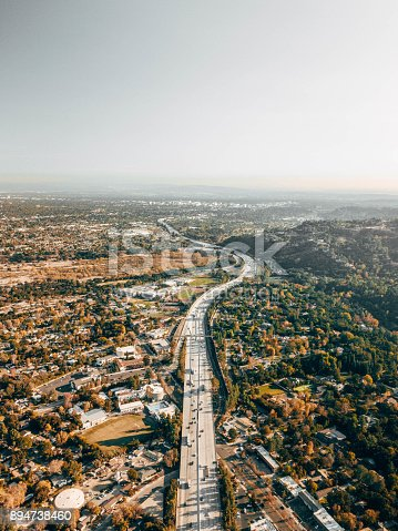 istock Aerial View of Freeway 894738460