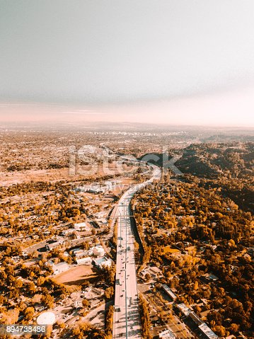 istock Aerial View of Freeway 894738486
