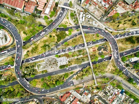 618059920 istock photo Aerial view of freeways in Mexico 507845644