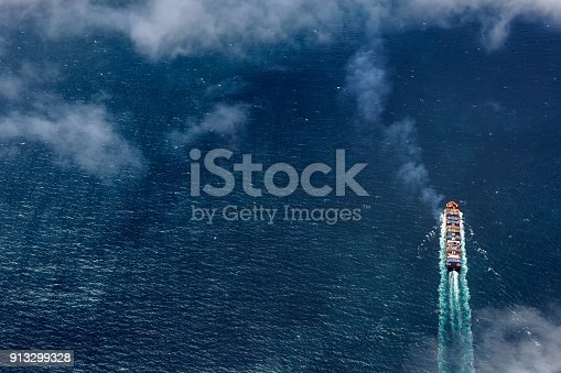 istock Aerial view of Freight Transportation, Bass Strait, Victoria, Australia 913299328