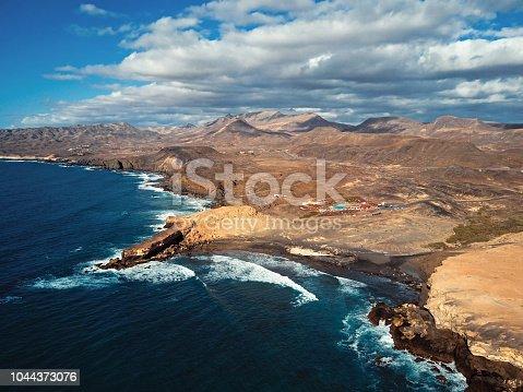 istock Aerial view of Fuerteventura coast near Costa Calma, Pajara: Punta de Guadalupe, La Pared 1044373076