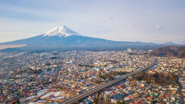 Vista aérea del Monte Fuji, Japón - foto de stock