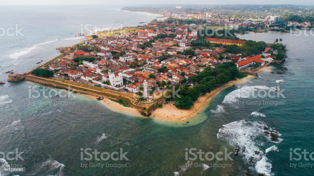 Aerial view of Galle Fort stock photo