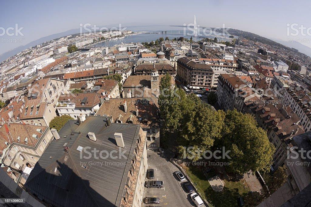 Aerial view of Geneva Switzerland royalty-free stock photo