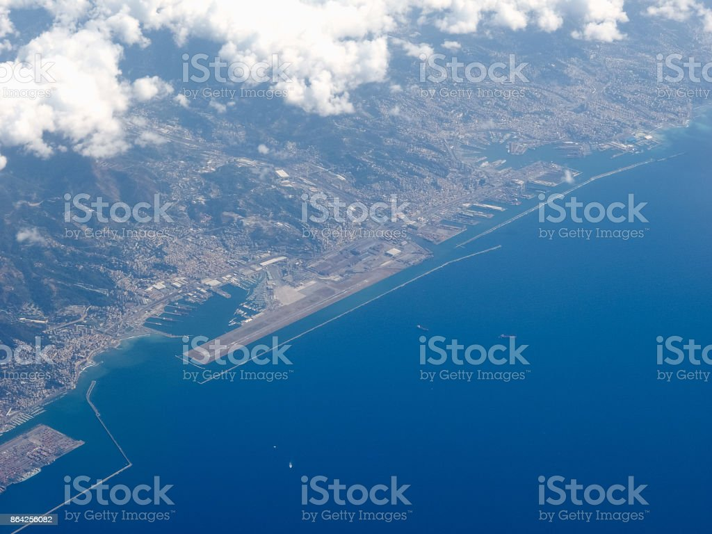 Aerial view of Genoa royalty-free stock photo
