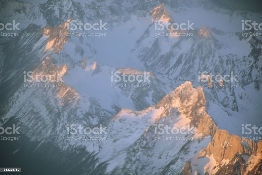 Aerial view of glaciers and landscape at Atacama desert in Chile Lizenzfreies stock-foto