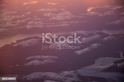 Aerial View Of Glaciers And Landscape At Atacama Desert In Chile Stock-Fotografie und mehr Bilder von Berg