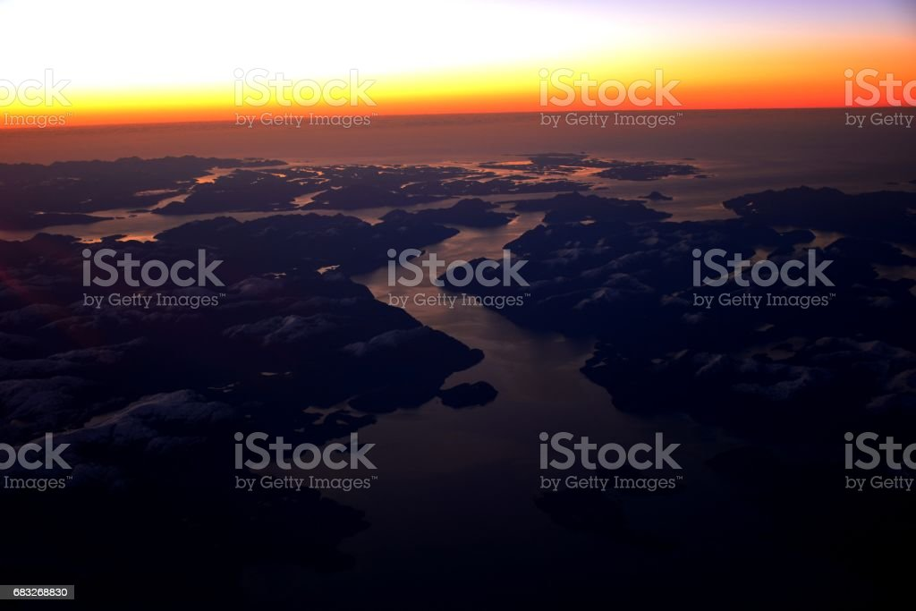 Aerial view of glaciers and landscape at Atacama desert in Chile royalty-free 스톡 사진