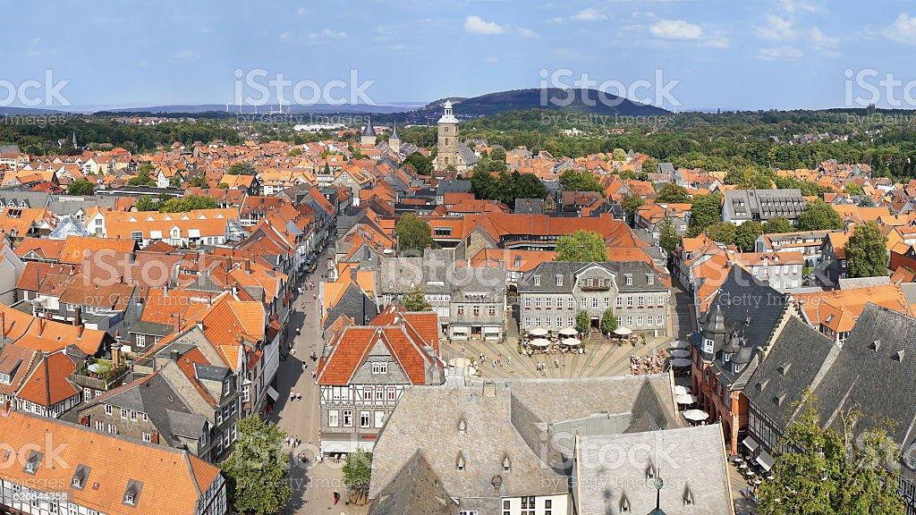 aerial view of Goslar in Germany – Foto