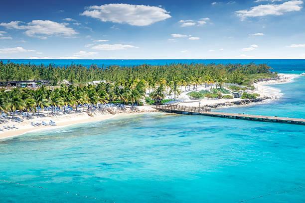 Luftaufnahme der Insel Grand Turk island – Foto