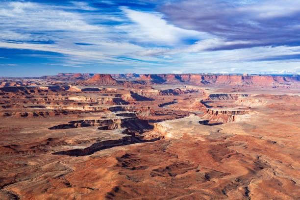 Luftaufnahme von Green River Overlook, Canyonlands National Park, Moab, Utah, USA – Foto