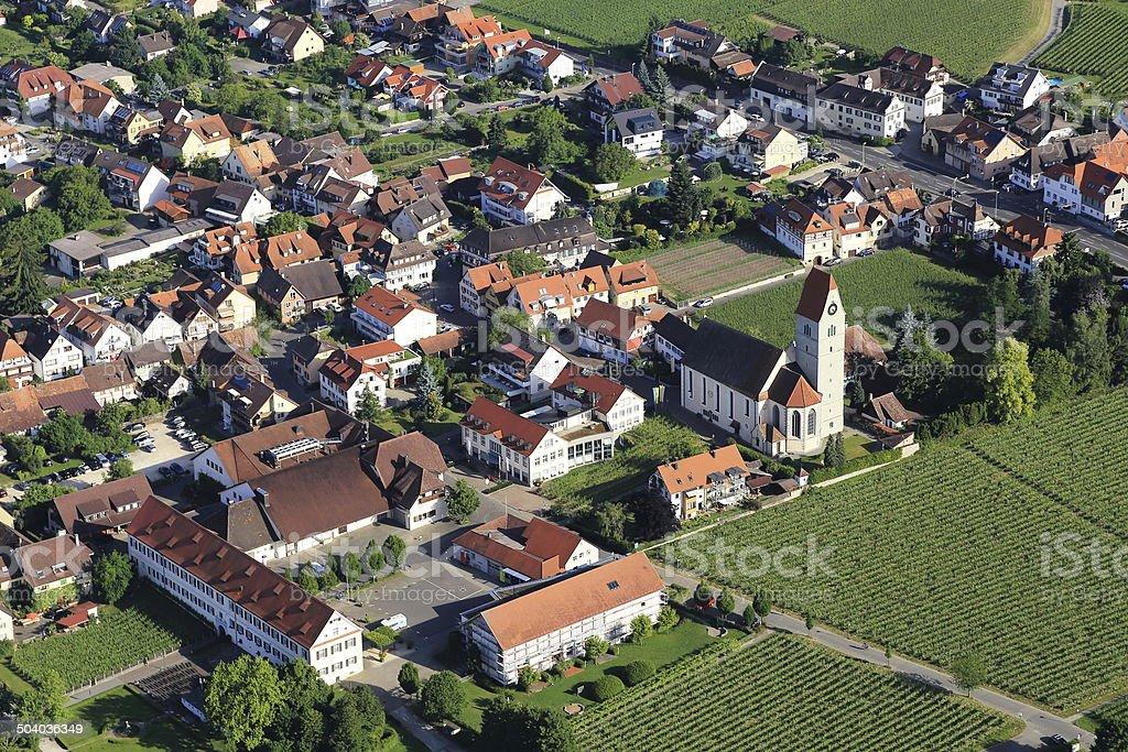Aerial view of Hagnau stock photo