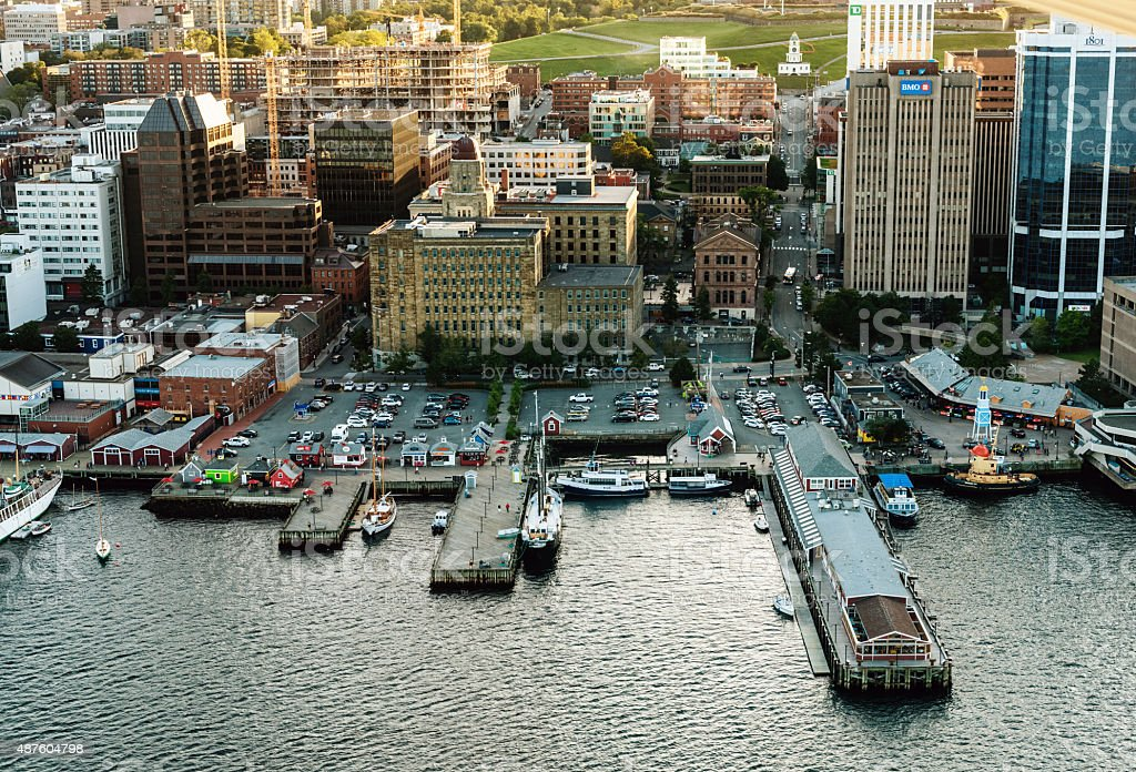 Aerial View of Halifax Waterfront stock photo