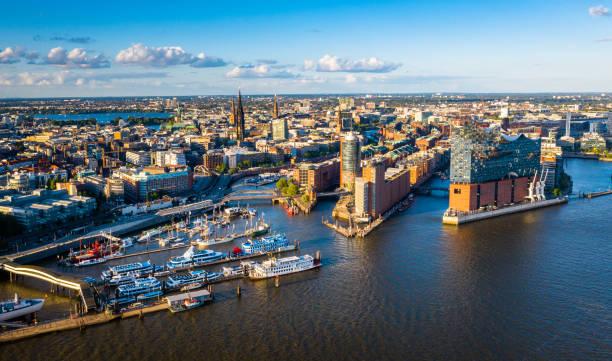 Aerial view of Hamburg Hafen City