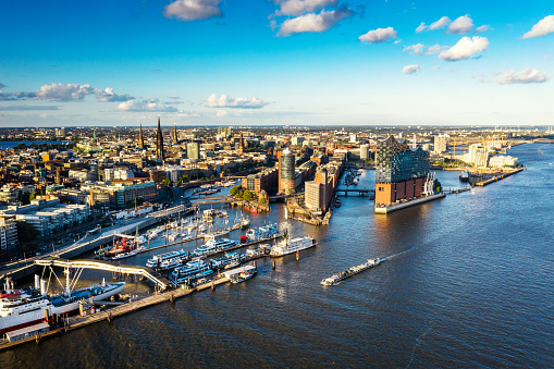 Aerial view of Hamburg Hafen City