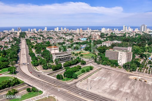 Aerial View Of Havana Suburbs In Cuba