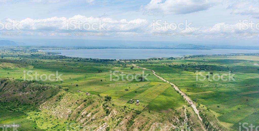Aerial view of Hawassa stock photo