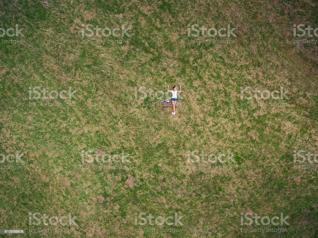 Aerial view of Heaven on earth stock photo