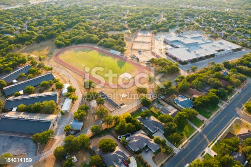 istock Aerial View of high school in central Texas near Austin 184614189