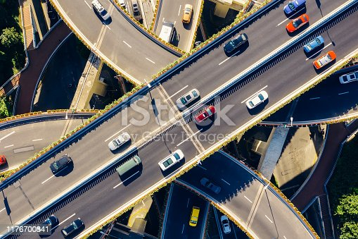 Highway, Road Intersection, Multiple Lane Highway, Crossroad, Traffic Circle, City