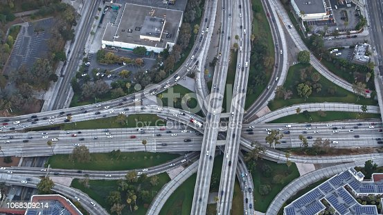 94502198istockphoto Aerial view of highway intersection in California, USA 1068309214