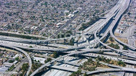 94502198istockphoto Aerial view of highway intersection 1094831804