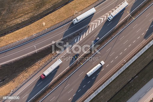 istock aerial view of highway 497865200