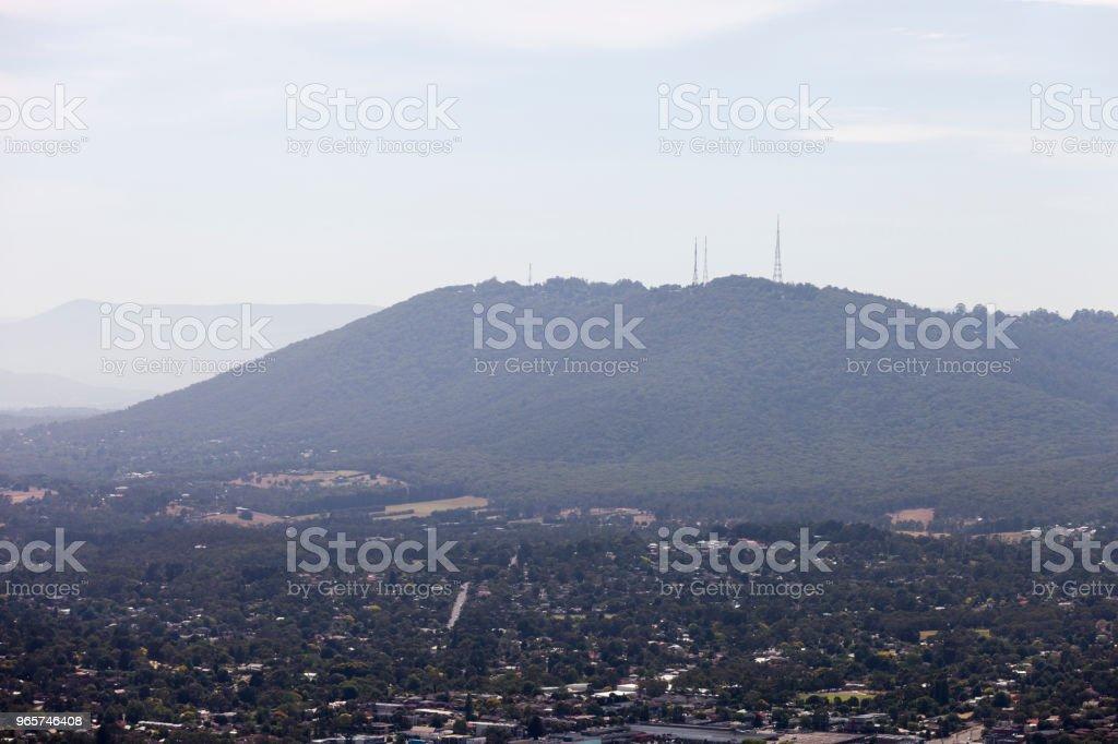 Luchtfoto van de heuvel stad - Royalty-free Australië Stockfoto