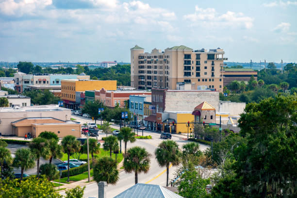 Aerial View of Historic Downtown Kissimmee , Florida