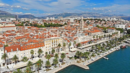 Aerial view of Historical part of Split, Croatia