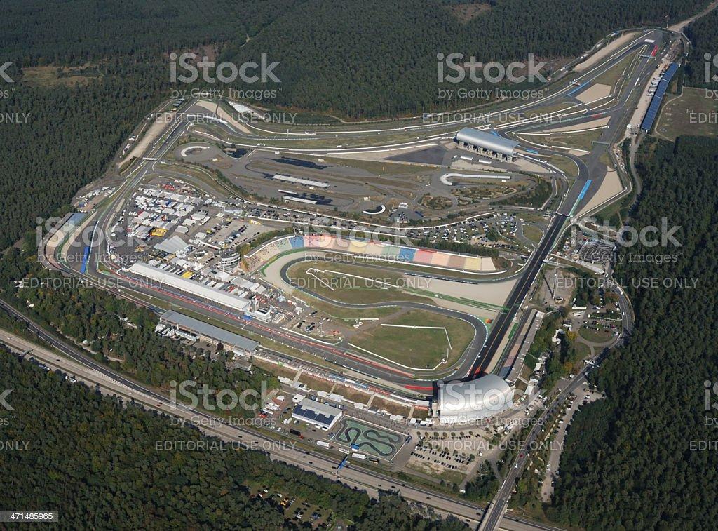 Aerial view of Hockenheimring, Germany stock photo