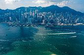 istock Aerial view of Hong Kong City 1032607844