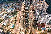 istock Aerial view of Hong Kong City 1041490184