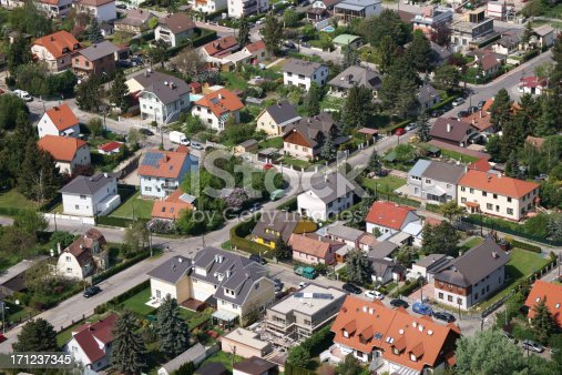 istock Aerial view of houses 171237345