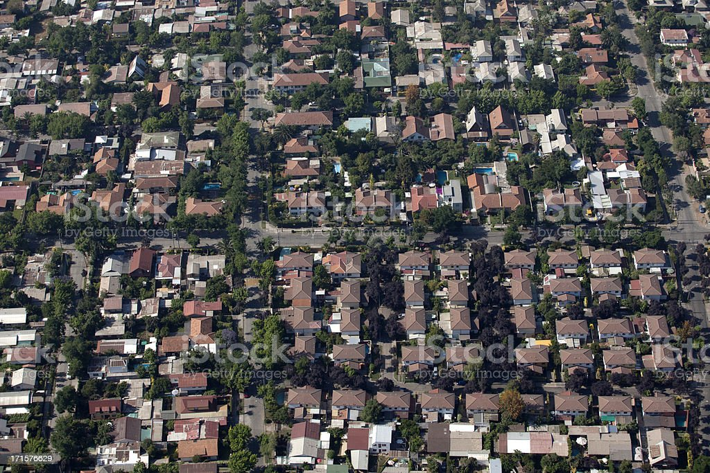 Aerial view of houses royalty-free stock photo