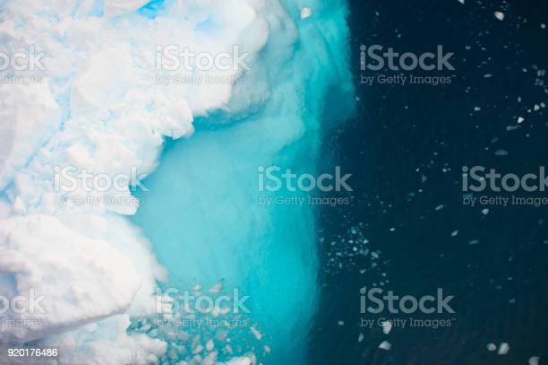 Photo of Aerial view of icebergs  in Antarctica