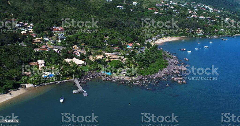 伊利亞貝拉,聖保羅,巴西的鳥瞰圖 免版稅 stock photo