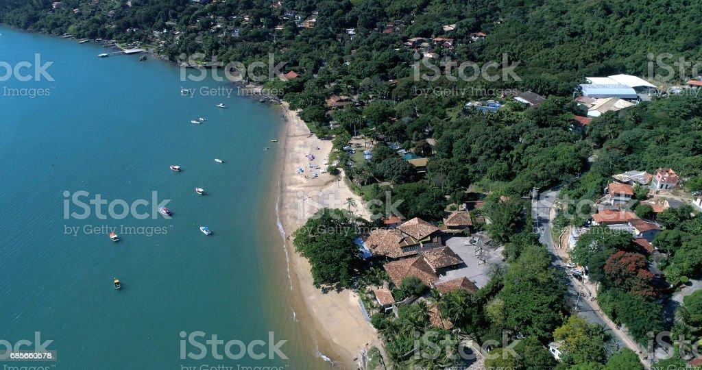イリャベラ、サンパウロ、ブラジルの空撮 ロイヤリティフリーストックフォト