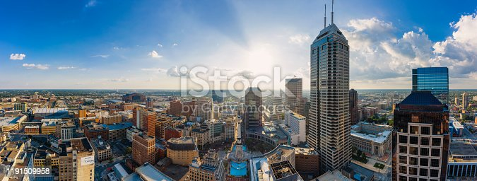 istock Aerial view of Indianapolis downtown Indiana 1191509958