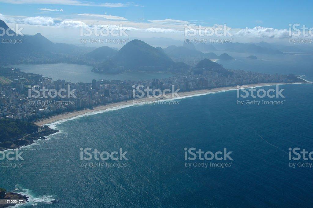 Aerial view of Ipanema neighbourhood, Rio de Janeiro royalty-free stock photo